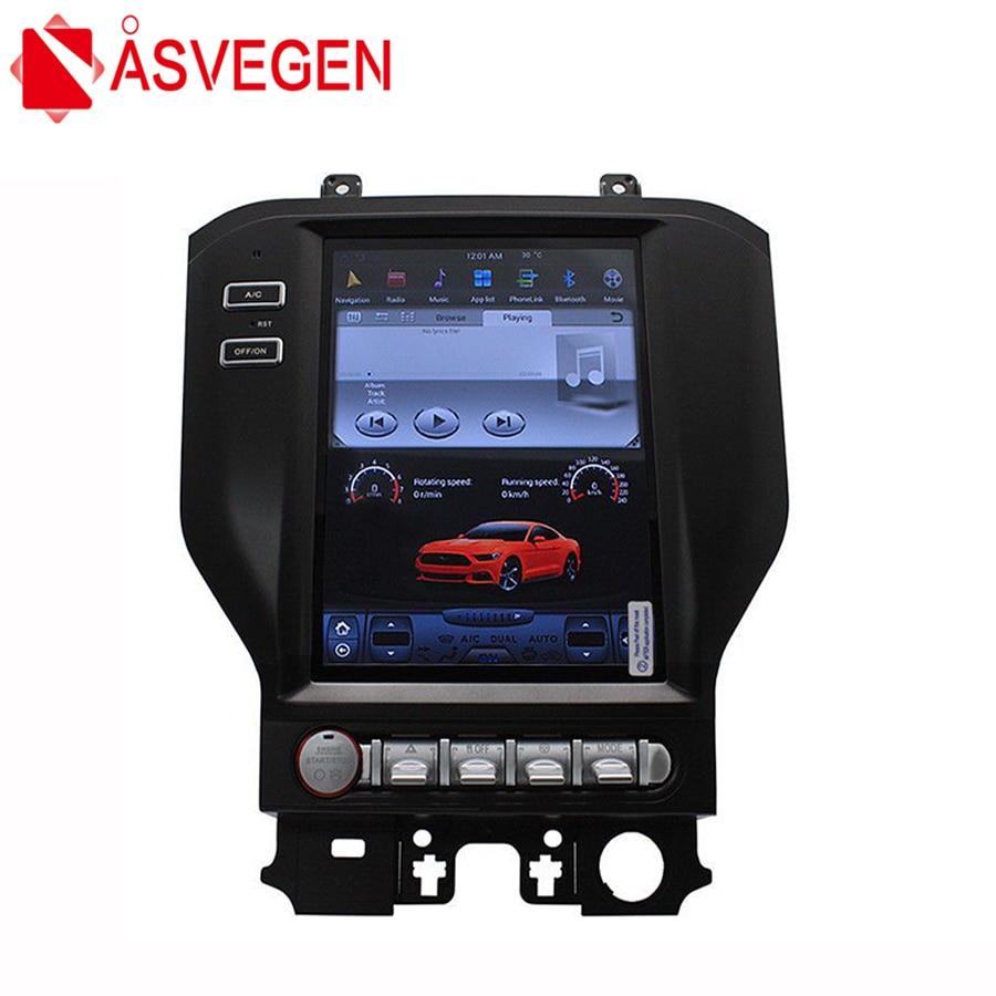 Asvegen 10.4 pollice Verticale Dello Schermo di Android Autoradio Per Ford Mustang 2015-2017 GPS 4g WIFI BT Dvd lettore Stereo Navi Multimedia
