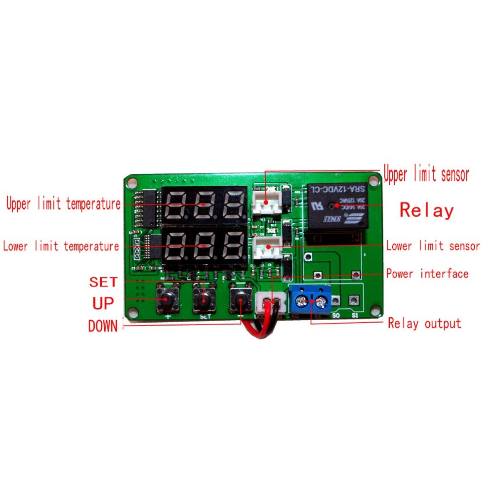 Temperature Difference Meter Solar Temperature Difference Controller Temperature Difference Controller With 2 Sensing Lines