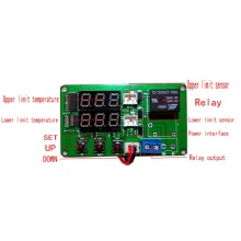 Temperature difference meter solar temperature controller with 2 sensing lines