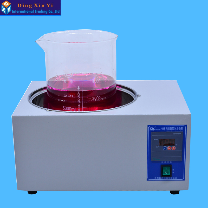 DXY HH-1 Laboratory Water Bath Single-hole Bath Pot Digital Thermostat Water Bath Electric Water Bath Boiler Capacity 5L