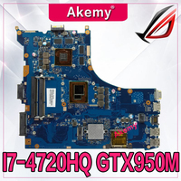 Akemy GL552JX GTX950M/4G With I7 4720HQ CPU mainboard REV2.0 For ASUS GL552J GL552X laptop motherboard Tested Working test ok