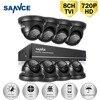 SANNCE 8CH CCTV Security System 1080P HDMI Output DVR Kit 8pcs HD 720P 1 0MP Outdoor