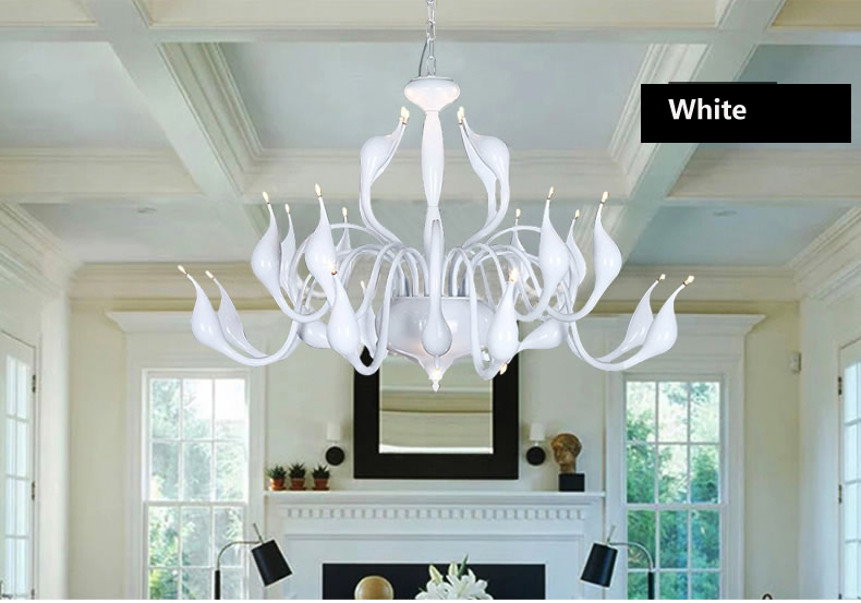 t swan moderne lustre lampe moderne mode salon salle manger chambre lampe romantique lumire