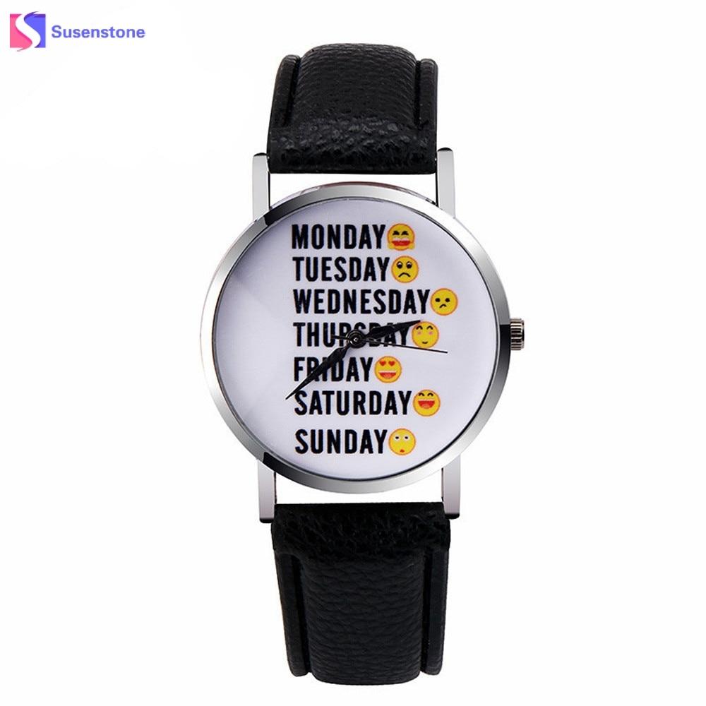 Cute Emoticons Emoji Watch Men Women Analog Quartz Watch PU Leather Ladies Casual Wrist Watches for Women Relogio Feminino analog quartz watch for men women