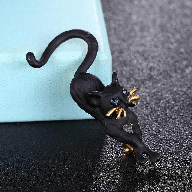 Zlxgirl Fashion Pria Jet Warna Cat Bros Perhiasan Enamel Anak-anak Hadiah Wanita Gadis Pakaian Syal Pin Aksesoris Gratis Pengiriman