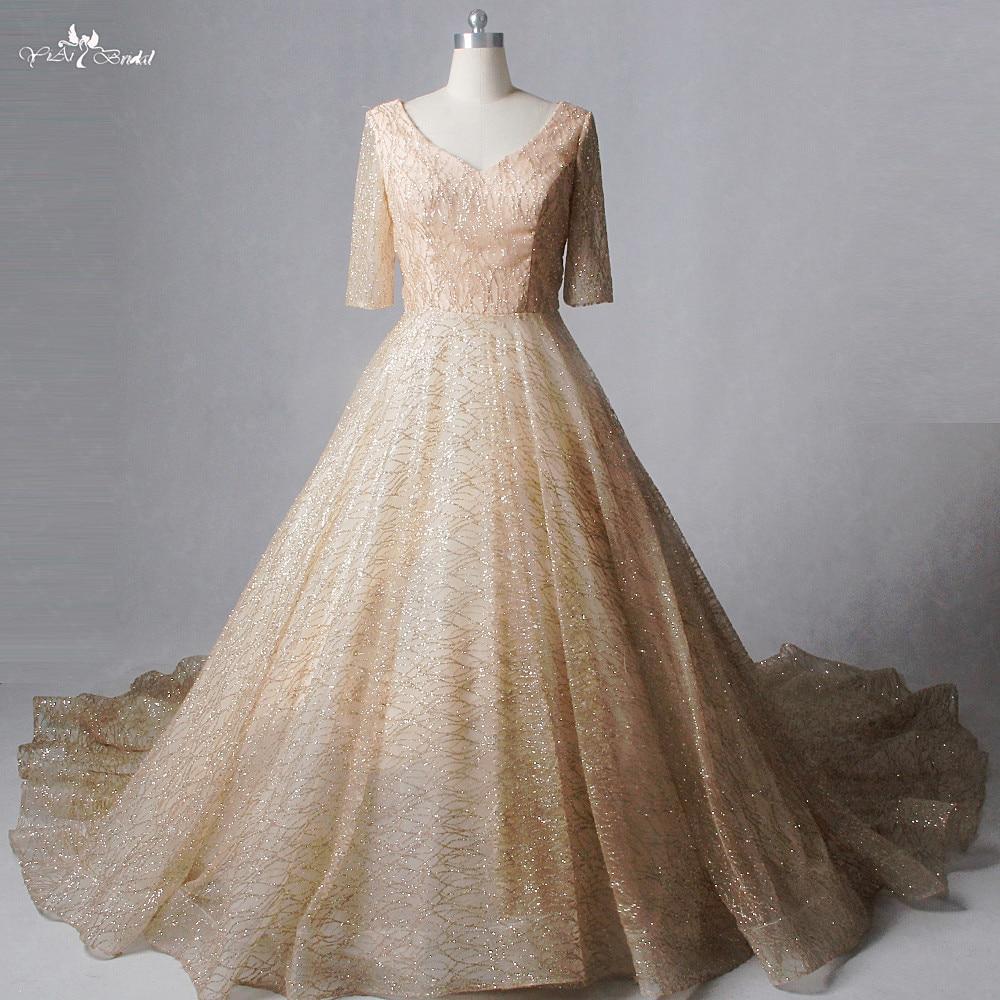 Gold Wedding Gowns: Popular Gold Wedding Dresses-Buy Cheap Gold Wedding