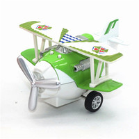 1 72 Mini Cartoon Metal Airplane Model Pull Back Alloy Diecast Simulation Glider Plane WIth Lights