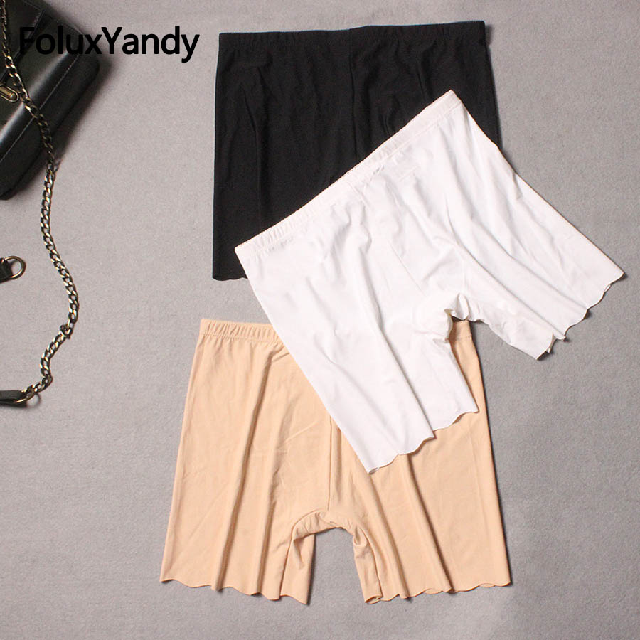 New Women Skinny Shorts Plus Size Slim Stretched Bodycon Shorts Khaki Black White PYJLWY06