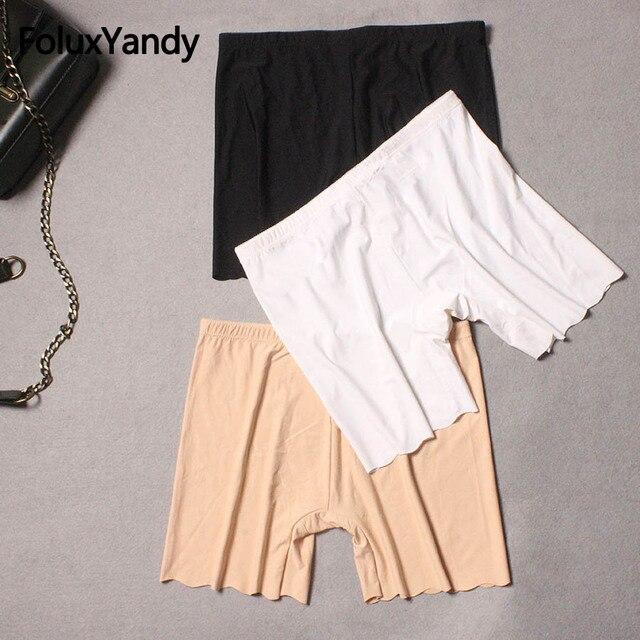 New Women Skinny Shorts Plus Size Slim Stretched Bodycon Shorts Khaki Black White PYJLWY06