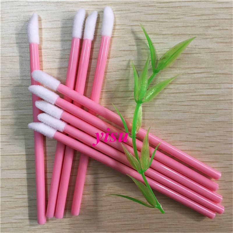 Pink Handle Mini Lip Brush 200 Pcs Disposable  Lipstick Gloss Brush Wands Applicator Makeup Beauty Tools sleek makeup губная помада lip v i p lipstick 3 6 гр 9 оттенков губная помада lip v i p lipstick 3 6 гр attitude тон 1012 3 6 гр