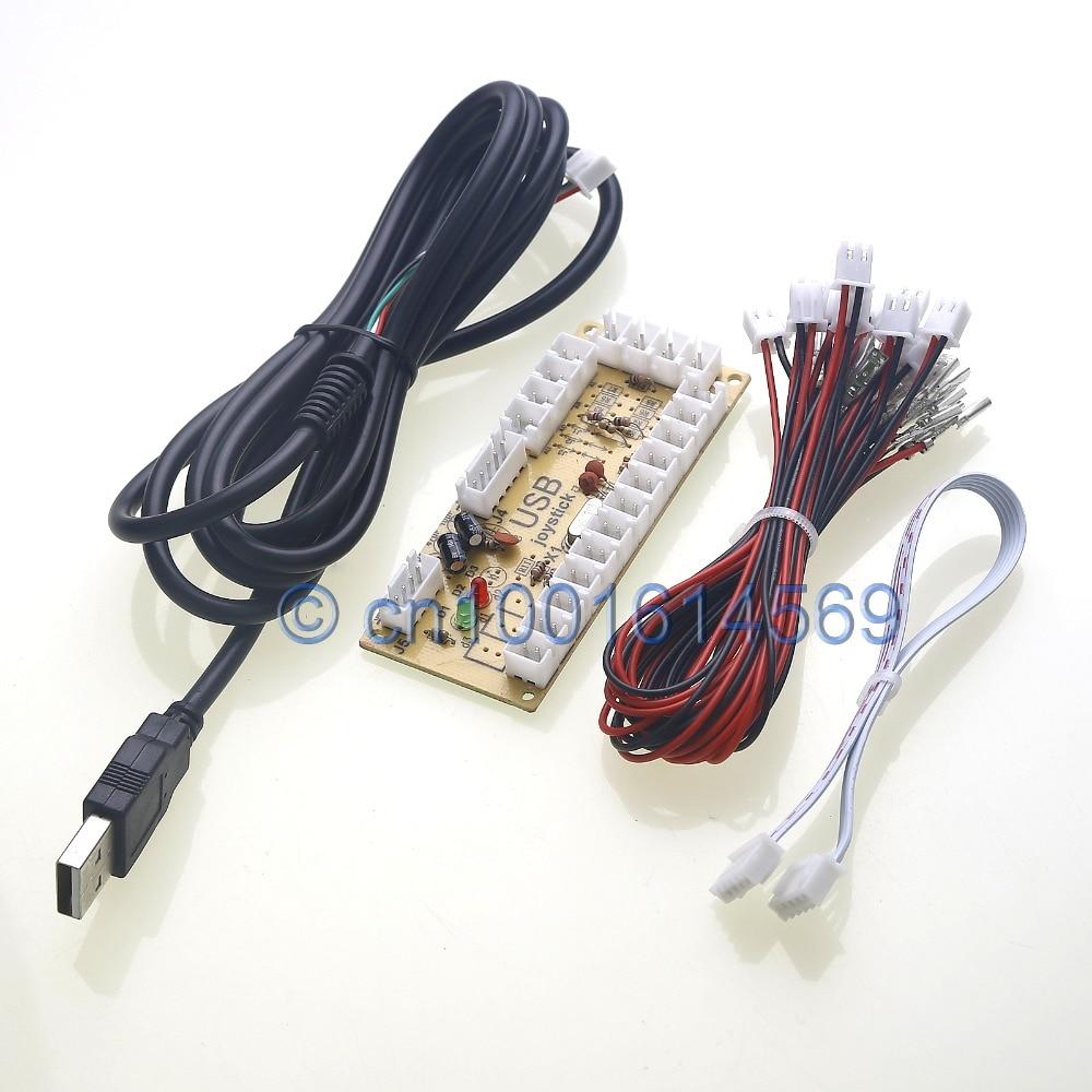 Reyann No Delay Arcade USB Encoder PC to Sanwa Joystick & Sanwa Push buttons for USB MINI MAME Cabinet & RetroPie DIY Projects