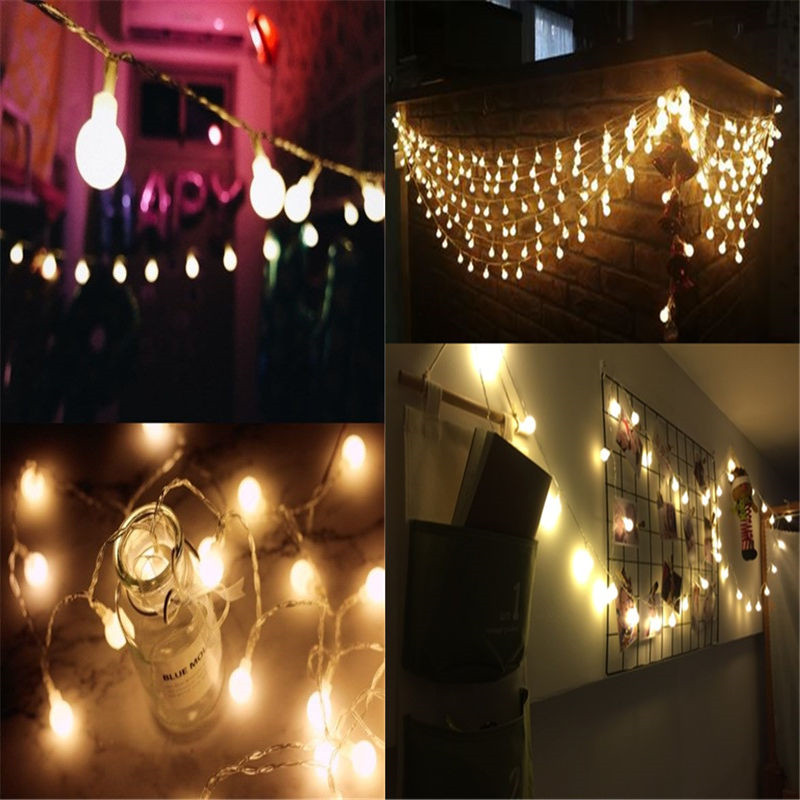 Luminaria 1.5m 3m 20 Led Cherry Balls Fairy String Lights Battery Operated Wedding Christmas Outdoor Patio Garland Decoration