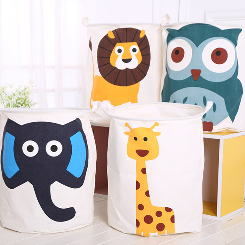 Cute Animal Collapsible Toy Storage Organizer Folding: New Cartoon Storage Bucket Househlod Laundry Dirty Clothes