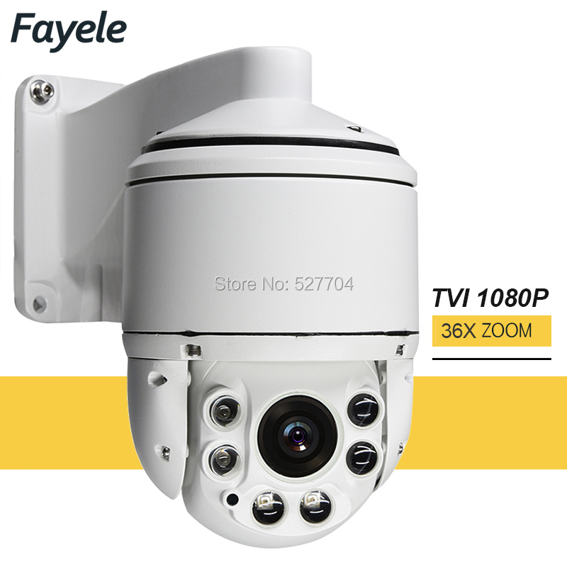 Security Outdoor High Speed Dome TVI 1080P PTZ Camera 2MP 36X Zoom Day Night IR 100M RS485 PTZ Control Pelco d IP66 Waterproof