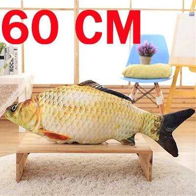 40/60 CM Soft Simulation Fish Crucian Carp Dolls Fyllda Djur Funny - Dockor och gosedjur