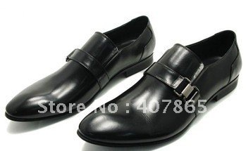 Newest style !! men's dress shoes 100% Good quality leather shoes