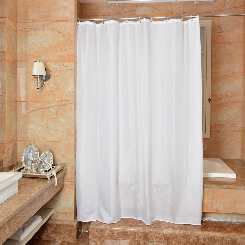 New Bathroom Shower Curtain Pure White Pattern Toilet Partition Curtain Waterproof Mouldproof in Shower Curtains from Home Garden