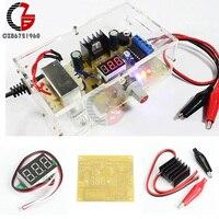 LM317 Adjustable Regulated 1 25V 12V Voltage Power Supply Board Kit With Case
