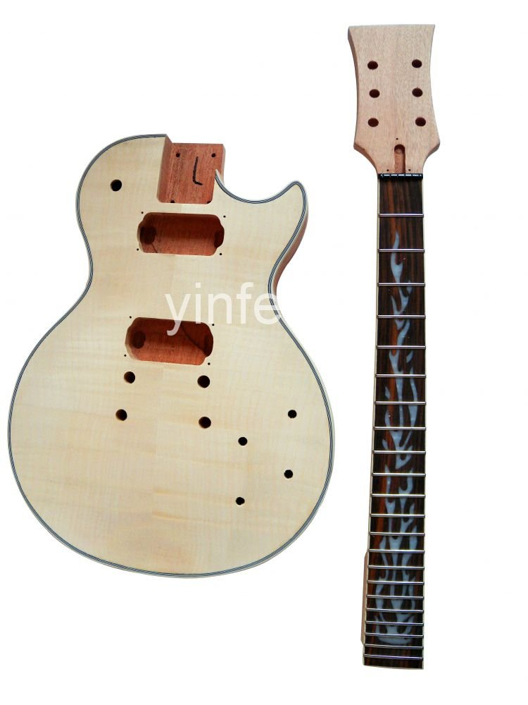 New High Quality Unfinished electric guitar neck guitar Body Solid wood Body & fingerboard L model 1pcs #2 new electric guitar body solid body diy