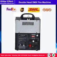 DJ DMX512 Fireworks oil fuel Spray Stage Fire Machine Disco night club Stage Special Effect 2 Head Flame Projector
