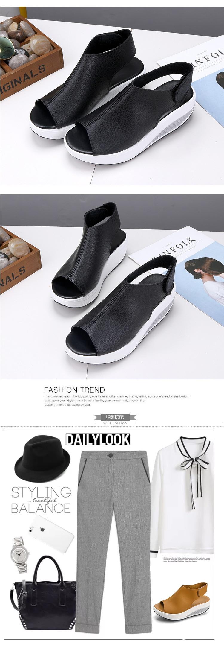 HTB1WYBCjFkoBKNjSZFEq6zrEVXaY 2019 Fashion Women Summer Female Sandals Vintage Wedges Platform Shoes Peep Toe Sandal High Heels Fish Toe Shoes Zapatos Mujer99