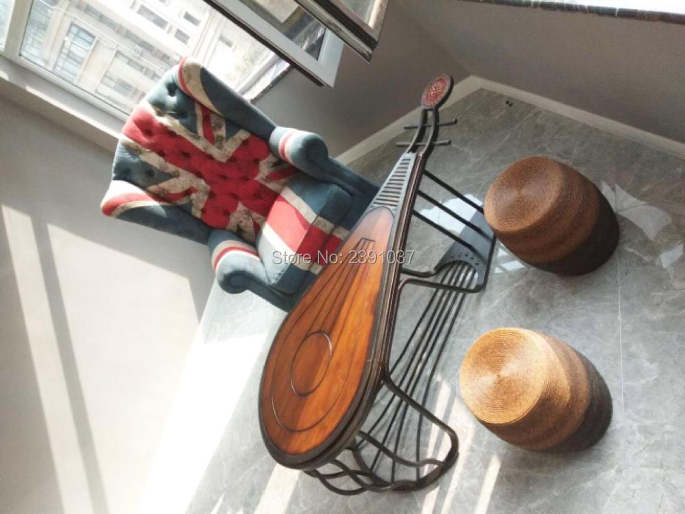 Table Zen chinoise asie du sud-est ancienne Table à thé Pipa table basse en bois de chêne massif pour salon/balcon/salon de thé