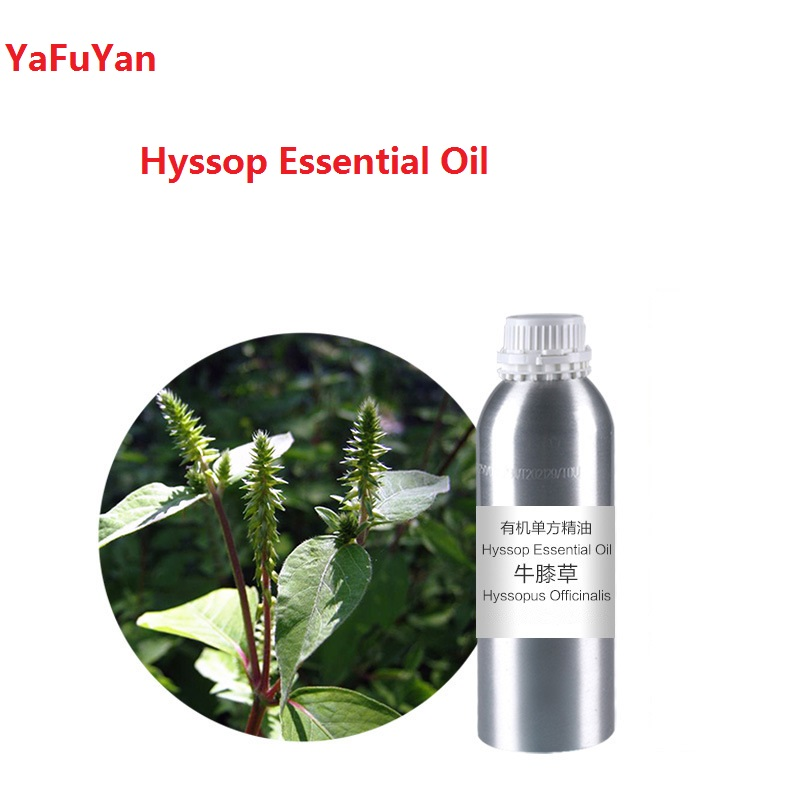 Cosmetics 50-100ml/bottle Hyssop Essential Oil organic cold pressed  vegetable  plant oil Scraping, massage skin care creativity essential oil blend true botanical 100% pure and natural undiluted high quality therapeutic grade blend of rosemary clary sage hyssop marjoram cinnamon 5 ml