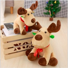 WYZHY Christmas gift Santa Claus doll elk childrens plush toy hanging girlfriend Eve  40CM