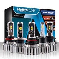 New Car LED Headlights H4 HB2 9003 Hi Lo Beam 80W 9000LM Set H1 H3 H7