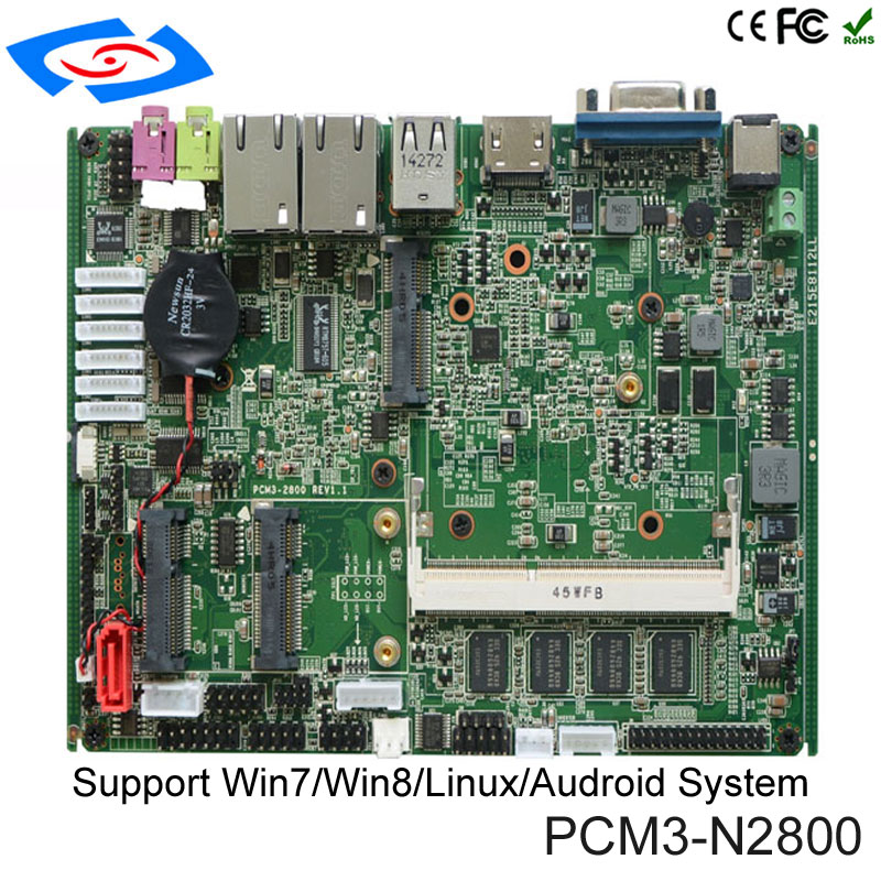 2019 New Board Mini Laptop Computer Motherboard Intel Atom N2800 Mini PC Multi Port Industrial Mainboard in Industrial Computer Accessories from Computer Office