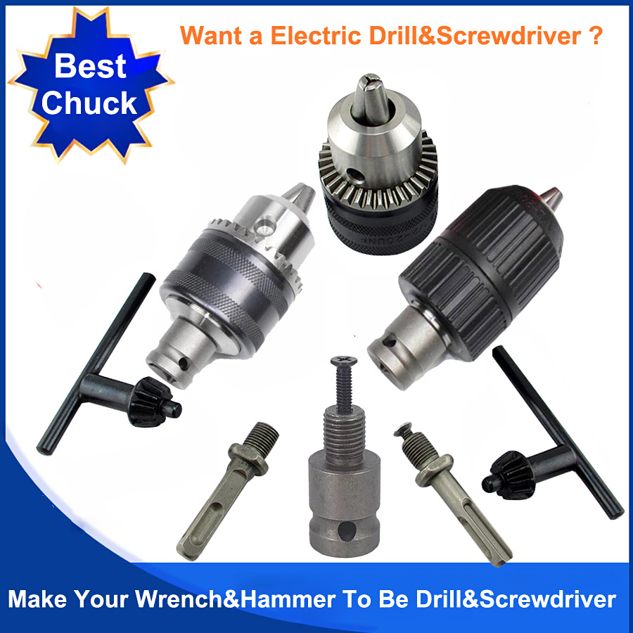 1/2 20-UNF Electric Wrench Chuch 2 Pit 2 Slot Electric Hammer Drill Chuck Head To Be Drill And Screwdriver