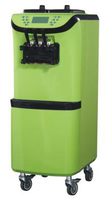 Circulation d'air de conception de panneau avant d'arc de vendeur de machine de crème glacée molle de 56L du fond avec le panneau de commande d'écran tactile d'affichage à cristaux liquides