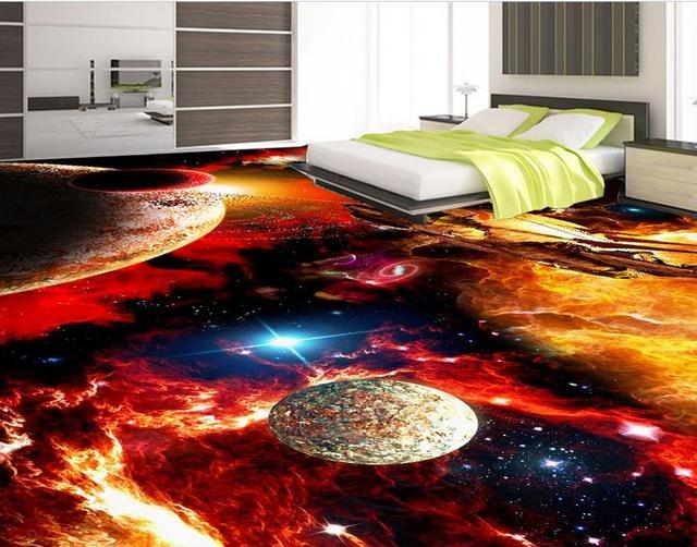 3d Fußboden Folie Kaufen ~ Kundenspezifische qualitäts d boden tapete moderne cosmic galaxy