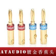 8 chiếc ATAUDIO HIFI Khuếch Đại Loa Chuối Cắm Đầu Kết Nối mạ Vàng Hifi Chuối Jack Cắm