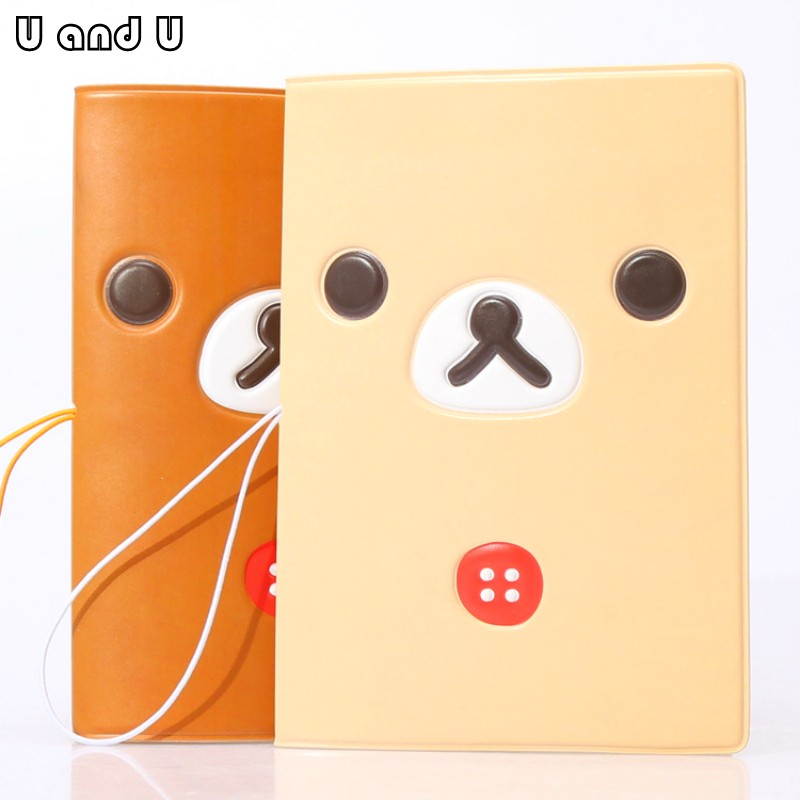 UandU Cartoon Passport Cover for Travel,PU Leather credit card holder with size 14*9.6 c ...