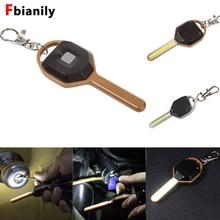 Мини светодиодный вспышка светильник мини брелок в форме ключа лампа фонарь аварийного кемпинга светильник