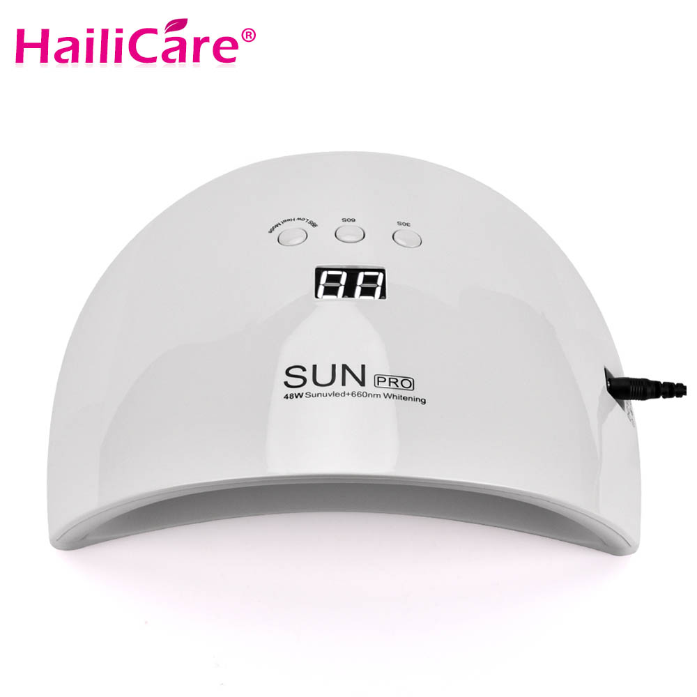 48W 23LEDs Nail Dryer For Curing Manicure With Timer Button Sensor Nail Art Tools LED UV Lamp For Nail Gel Polish все цены