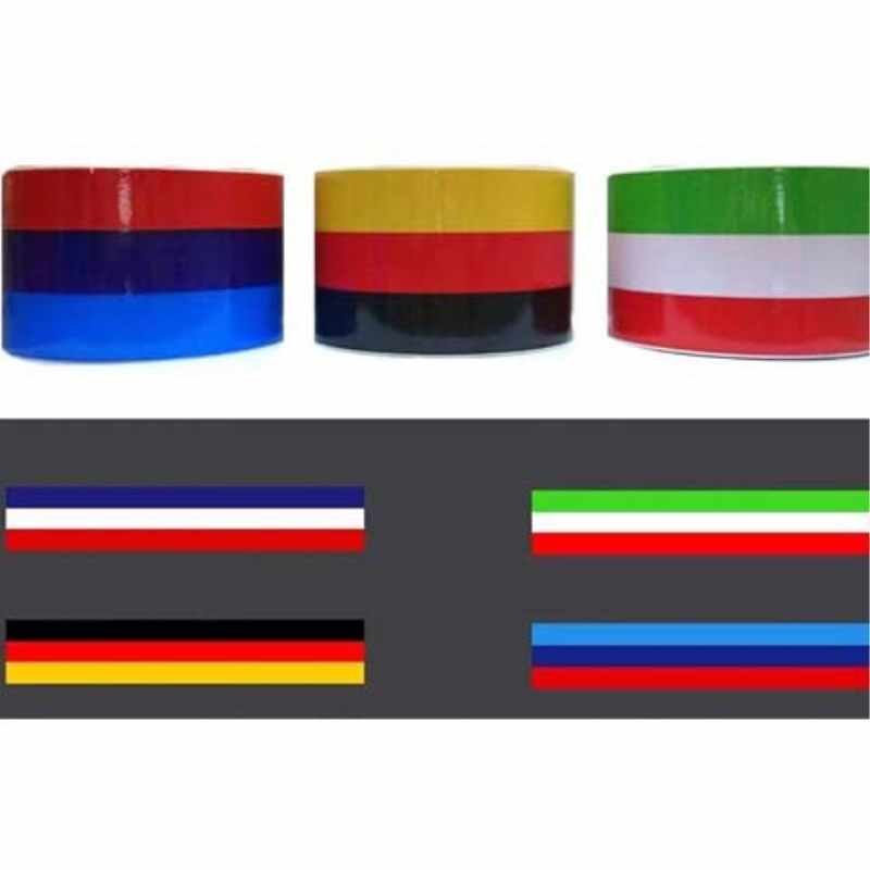 1 piece / batch 1M * 7.5CM M type Germany Italy France flag stripe car hood sticker body decal for BMW Benz Chevrolet Volkswagen