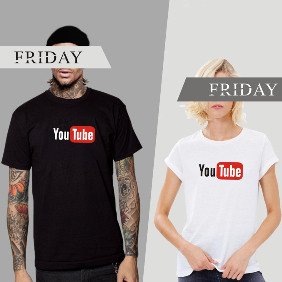 Design t shirt youtube - Hot Sale Youtube Subscribe Design Short Sleeve T Shirt For Men Women Brand Clothing Cotton