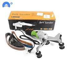 цена на handheld Electric Stainless Steel Pipe Tube Finishing Belt Polisher sander 110V/220V