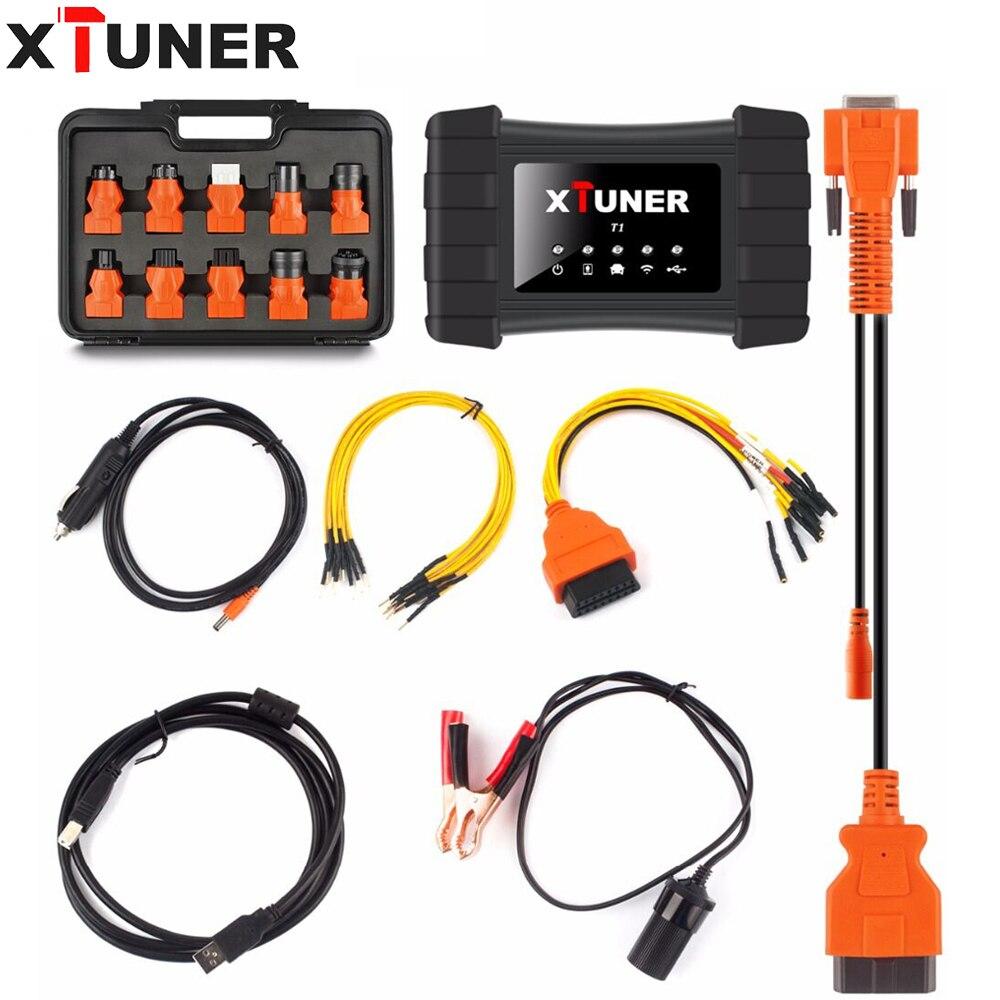XTUNER T1 Schwere Lkw Mit Wifi Professionelle Lkw Diagnose Werkzeug Unterstützung WIN10 System XTUNER T1 diesel lkw diagnose