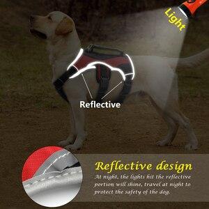 Image 2 - Harnais réfléchissant pour chiens pour grands chiens, licou K9, gilet en maille, avec poignée à levage rapide, pour marche Labrador Husky