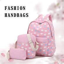Ткань встряхнуть рюкзак комплект холст кошка печати рюкзак для женщин симпатичные легкие портфели на среднем Школьные ранцы