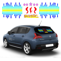 70 16cm Music Rhythm Led EL Sheet Light Car Music Sticker Red Green Yellow Blue Purple