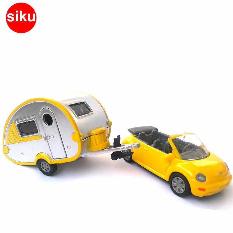 Lucu Siku 1629 1:55 Die Cast Model Mobil VW Beatle Tur Perjalanan Mobil Van RV Mobil Mainan untuk Anak GLD3
