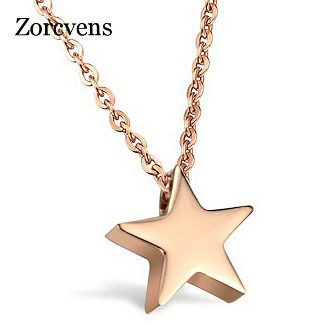 Italina elegant lady star necklace silver gold color fine chain italina elegant lady star necklace silver gold color fine chain jewelry five pointed aloadofball Images