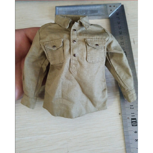 1/6 WWII Soviet Army's  Yellow Shirt Models for 12''Figures Accessories