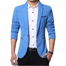 Костюмы мужчин высокое качество мужские свободного покроя костюмы пиджаки куртка подходит мода пиджак кнопку пальто костюм деловых людей формальные пиджак