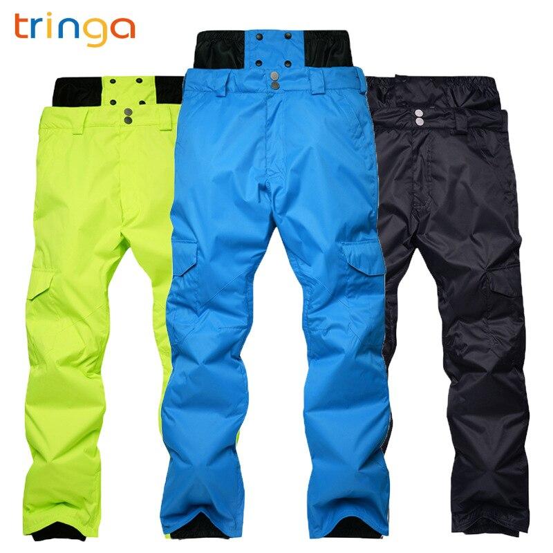TRINGA nouveau pantalon de Ski pour femmes hommes amoureux hiver extérieur simple/Double planche pantalon de Ski épais imperméable chaud pantalons de sport