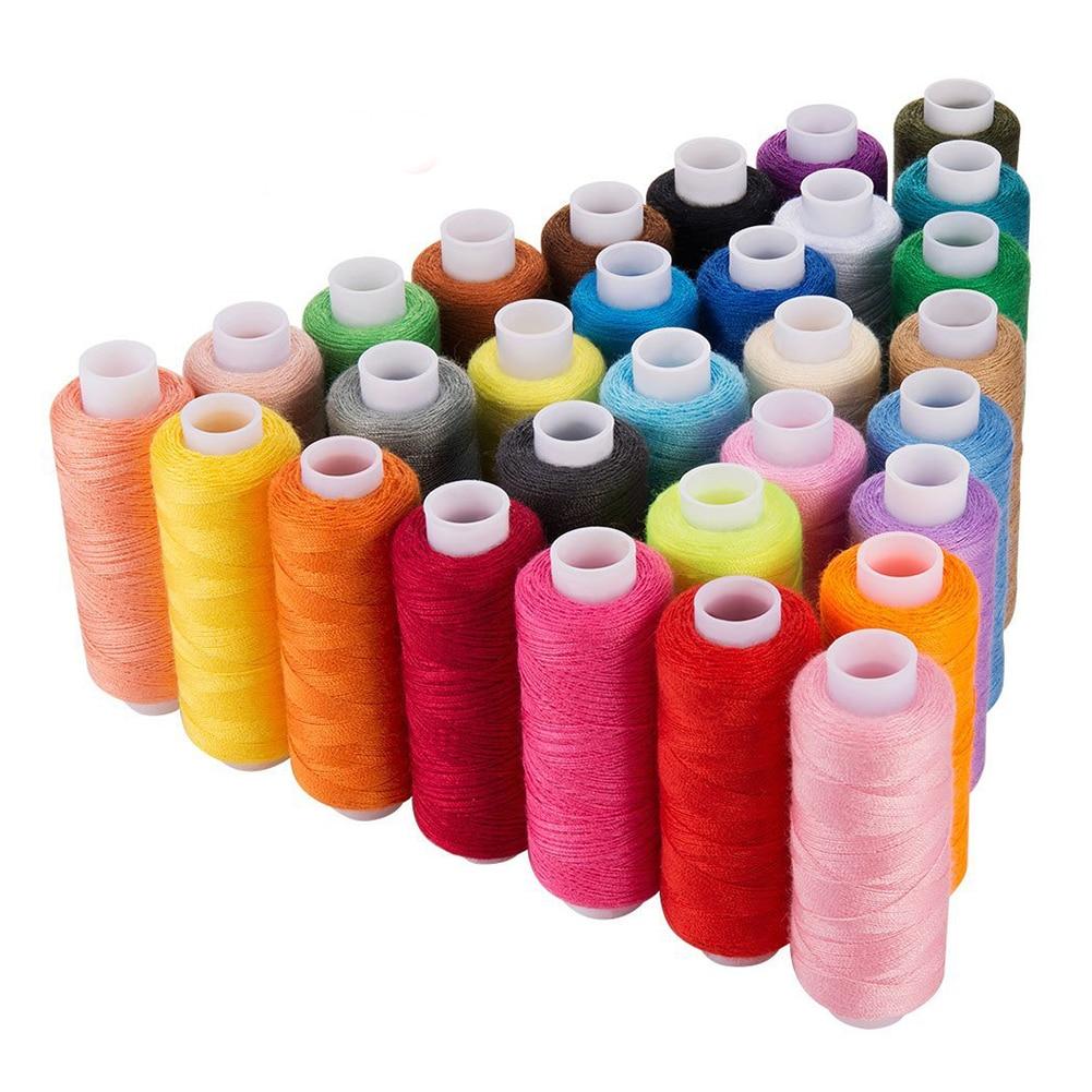 30 Spool Sewing Thread, 250 Yard Each Assorted Spool Threads Sewing Thread Bobbins Of Colorful Assorted Thread Spool